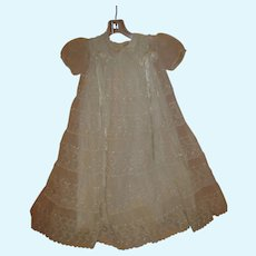 Vintage 1950/60' Long Christening Gown for Your Antique Doll