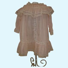 Vintage Silk and lace Dress for a Antique Doll