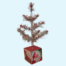 """Dolly Size 13""""  Silver Christmas Tree"""