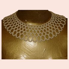 Vintage 2  Faux Pearl Collars