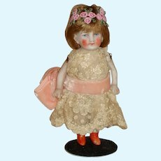 "Antique All Bisque 4 1/2"" Doll"