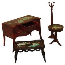 Vintage RENWAL Painted Furniture 4 Pieces