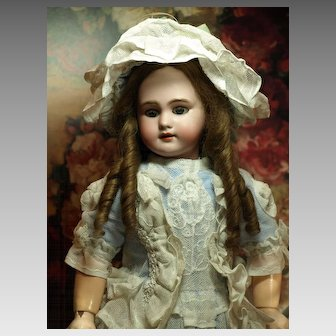French Bebe with Beautiful Couture Costume-Antique Human Hair Wig ♥♥