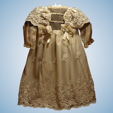 Stunning Antique Dress - Embroidery Tulle and Lace -An Elaborate Dress that makes a Gorgeous Presentation ♥♥