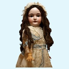 Antique German Kestner Doll with a Gorgeous Antique Human Hair Wig and a Beautiful Dress with Bonnet ♥♥