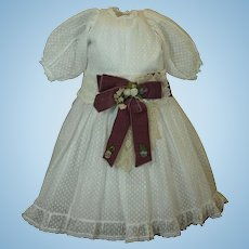 Appealing Dotted Swiss Doll Dress with Lace Accents ♥♥