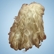Vintage Light Blond Mohair Wig -Hand Made-Wendy Feidt