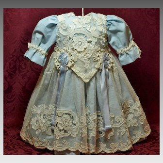 Lovely Robin's Egg Blue Dress with Decorative Tulle Lace ♥♥