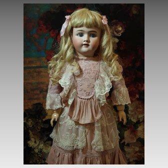 Lovely German Antique Doll-Heinrich Handwerck -Stunning Dress-Beautiful Blue Eyes ♥♥