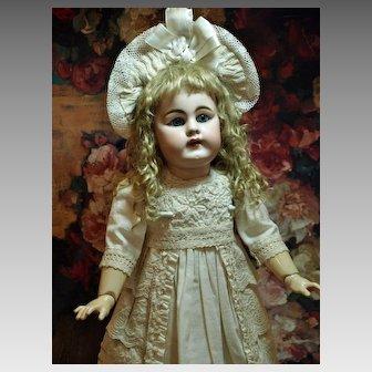 SALE PENDING FOR  E... Sweet Antique German Kestner in Battenberg Lace Dress ♥♥