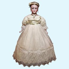 """Little Woman 1160-2  Simon & Halbig 13"""" Elaborate Tulle Lace Gown & Jewelry ♥♥"""
