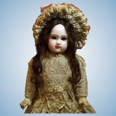 """Antique Jumeau Bebe 22"""" with Exquisite Couture Costume ♥♥"""
