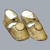 Antique Ecru Leather Shoes-Good Condition