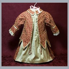 Lovely Antique Brocade Doll Dress ♥♥