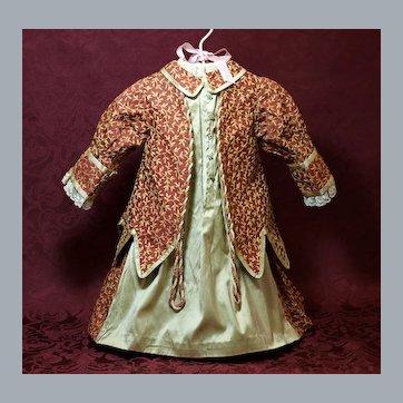 Lovely Antique Brocade Doll Dress ♥♥