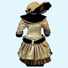 Elaborate Couture Costume for French or German Doll ♥♥