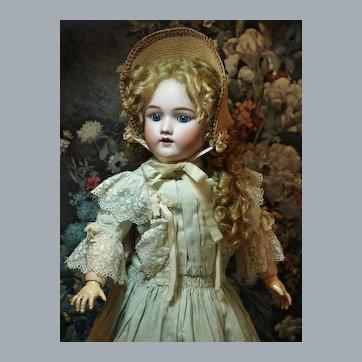 """Charismatic 23"""" Heinrich Handwerck -Stunning Antique Dress & Bonnet ♥♥"""
