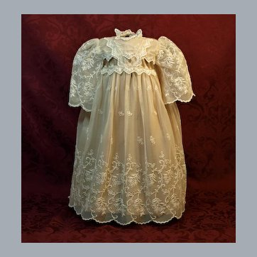 Broderie Anglaise Flower Design Lace Dress with Scallop Edging ♥♥