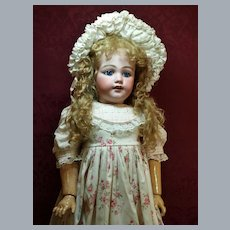 Child Size Antique Simon Halbig Doll- Beautiful Blue Eyes ♥♥