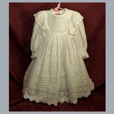 Antique Child's Broderie Anglaise Lace Dress