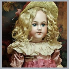 "Delightful 22"" Simon & Halbig 1248 -Antique Mohair Wig-Excellent Costume -Keystone Shoes♥♥"