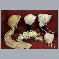 All Four Antique Bonnets included in this Lot ♥♥