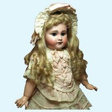 """Adorable Tete Jumeau Bebe-17.5"""" Excellent Couturier Costume"""
