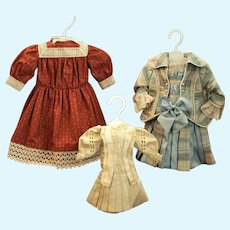 Three Excellent Doll Dresses-