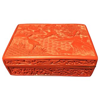 Chinese Cinnabar lacquer Ink Box