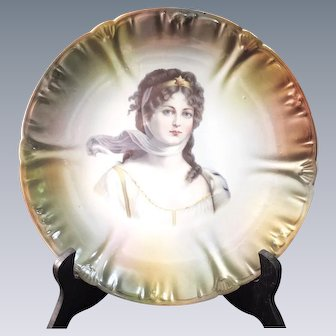 "Queen Louise of Prussia -  German Plate by ""FRANZ ANT MEHLEM"""