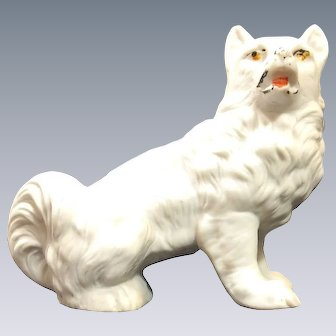 Victorian Bisque - Spitz Dog Figure - Circa 1900