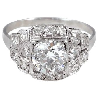 Radiant 1.05 carat Platinum Diamond Ring