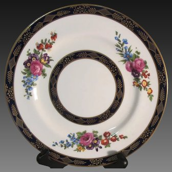 Set of Six Crown Staffordshire Luncheon Plates, Pattern #A-6436
