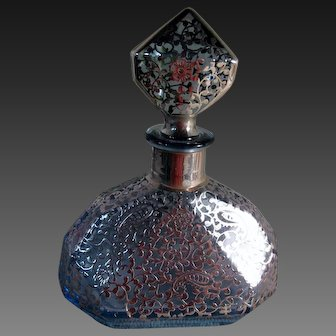 Milano Argento Perfume with Floral Sterling Overlay