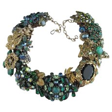Emerald Ecstacy Artisan One of a Kind Statement Necklace