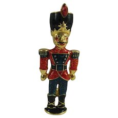 Christopher Radko Toy Soldier Nutcracker Enameled Christmas Pin