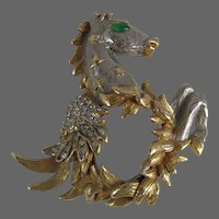 1960's K.J.L. Kenneth Jay Lane Pegasus Horse Brooch The Fantasy Collection BOOK PIECE