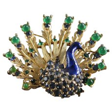 Boucher Peacock Brooch Vintage - Book Piece