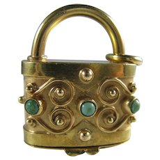 18K Gold Italian Handbag Purse Secret Compartment Big Charm 13.2 Grams