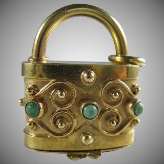 18K Gold Italian Handbag Purse Secret Compartment Big Charm 13.2 Grams