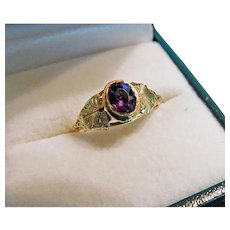 Georgian Amethyst Ring 15kt Gold c1780-1810