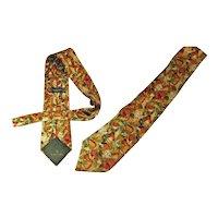 Lanvin Silk Necktie Paris  c1970s