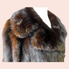 Vintage Mink Coat Mahogany c1960