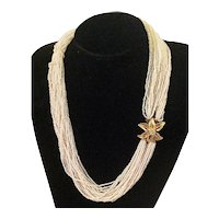 Glittering Vendome Torsade Necklace c1950s Matinee Length