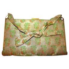 Original Vintage Helena Rubenstein Lame' Handbag c1940s