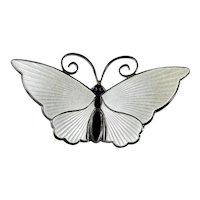 Butterfly Brooch David Andersen c1960 Sterling Silver, Enameled Brooch