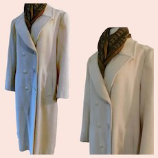 American Classic Coat by Pendleton Full Length Winter White Sz 12 c1970s