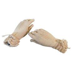 Vintage Knit Gloves Czechoslovakia Flirtatious! c1930s