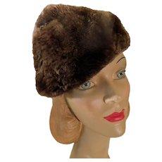 Period Deco Lush Beaver Fur Hat John Wanamaker c1930s