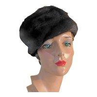 Vintage Mink Hat c1960 Mahogany